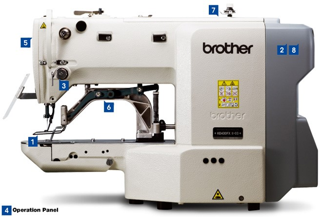 Brother BE-438FX Electronic direct drive lockstitch button sewer