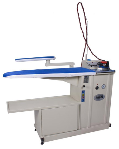 Hasel HSL-KBBP-20D Narrow Ironing Table with Boiler-Vacuum-Blowing-Chimney –Lamp-Balancer and Arm