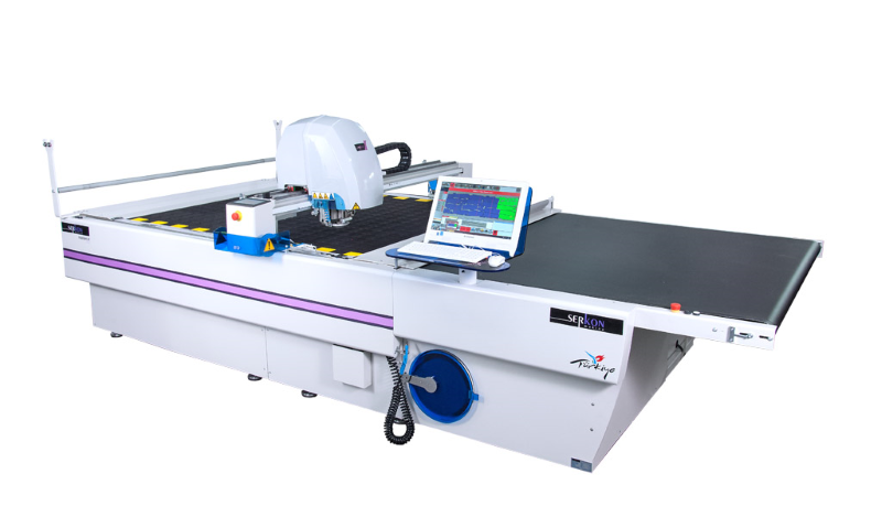 Serkon MC 70 -80 Conveyorized automatic fabric cutting machine