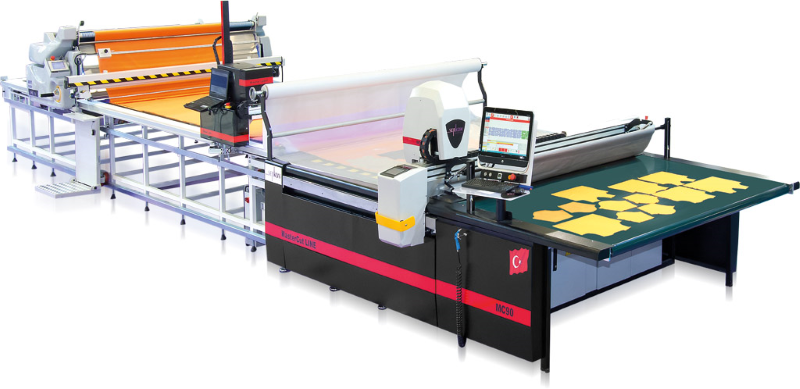 Serkon MC 90 Conveyorized automatic fabric cutting machine