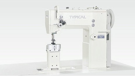 Typical GC24690 Post-Bed Single & Double Needle Compound Feed Lockstitch Sewing Machine