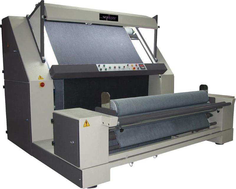 Serkon DK3 open width woven fabric inspection machine