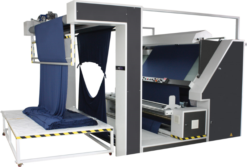 Serkon ES1 open width knitted fabric inspection machine